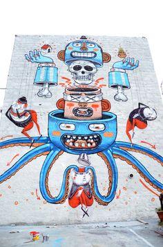 Awww! StreetArt, Graffiti  La Mafia non esiste... by Diego Della Posta, via Behance