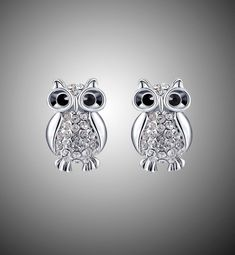 Shipping: FREE to Worldwide Satisfaction: 45 Days Money Back Guarantee Safe for you: SSL Encripted Checkout Owl Earrings, Owl Jewelry, Jewels, Free Shipping, Store, Silver, Jewelery, Gem, Business