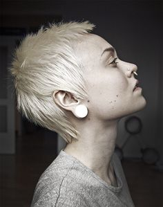 Pixie Cropped - Tumblr  I'm not really into the punk look, but I love how it's shaggy one the sides instead of a tight shave.  Exactly what I'm looking for.