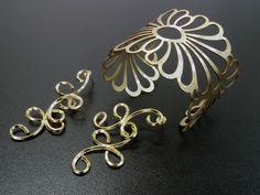 Bracelete e Brinco Dourado - Rede AliançaRede Aliança