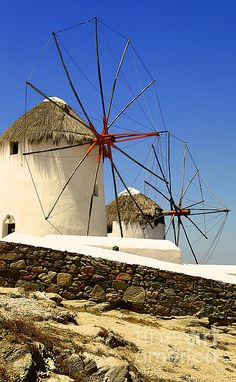 Mykonos Windmills ~ most of these are private homes.