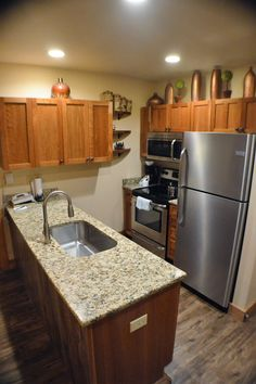 RH 2220 kitchen remodel with stainless and granite