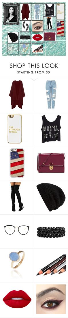 """""""Bez naslova #28"""" by neri-6448 ❤ liked on Polyvore featuring beauty, The Row, Topshop, BaubleBar, Casetify, Tory Burch, Liliana, Rick Owens, Linda Farrow and Bling Jewelry"""