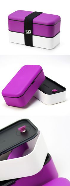 Original Bento Box Pink White by monbento