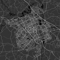 Milton Keynes Area Map in dark shaded version with black shapes for water and many details for high zoom levels. This map of Milton Keynes,  England, ... ... #download #map #infographic  #marketing #travel #beautiful #map #communication #design #background #hebstreit