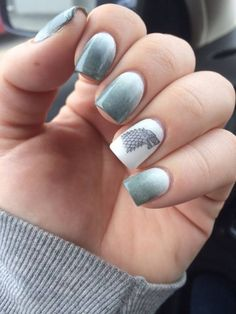 House of Stark - A Song Of Ice And Fire. | 29 Examples Of Marvellously Geeky Nail Art