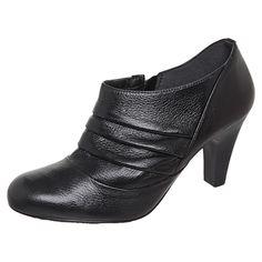 Ramarim Ankle Boot Dobras Preta