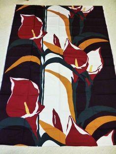 "Marjatta Metsovaara, Finland Design ""Liliana"" Vintage 70's Fabric - Tampella  #MetsovaaraTampella #Floral"
