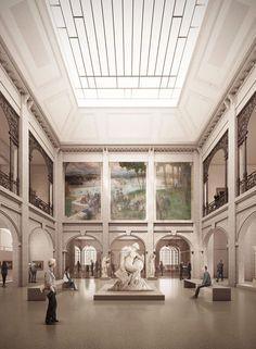LAN . Bonnat-Helleu City Art Museum . Bayonne (7) Design Museum, Art Museum, Lan Architecture, Classic Interior, City Art, Louvre, Patio, Mansions, Wall Art