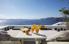 One of the best Santorini luxury hotels, located in Oia, is Atrina Canava A splendid luxury hotel in Oia, Santorini filled with the colors of the Aegean. Santorini Suites, Santorini Luxury Hotels, Santorini Caldera, Santorini Greece, Santorini Holidays, Greece Travel, World Traveler, Wonderful Places, Places To Go