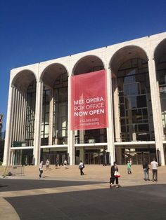 """Met Opera """"Good morning from the plaza! We're officially open for 2012-13!"""" (August 13, 2012)"""