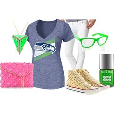 Seattle seahawks super bowl party outfit