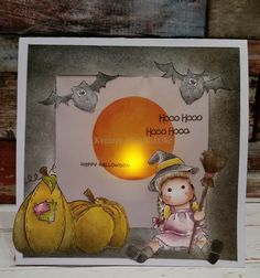 tutorial see my card board for cut file/template for tent card. All Saints Day, Bonfire Night, 3d Paper Crafts, Tent Cards, Hallows Eve, Templates, Halloween, Box, Frame