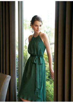 chiffon sexy scoop neckline with short a line skirt in bosom bodice fashion bridesmaid dress bm 0172