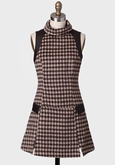 Toffee Latte Gingham Tunic Dress at #Ruche @Ruche