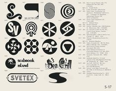 S-17  Collection of vintage logos from a mid-70's edition of the book World of Logotypes.