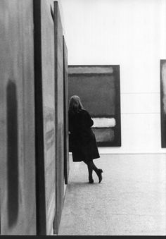 Looking at Rothko in the Whitechapel gallery - 1961.