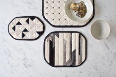Graphic Needlepoint Trivets | Purl Soho - Create