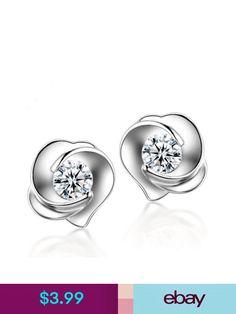 Earrings #ebay #Jewelry & Watches Baby Jewelry, Gems Jewelry, Bridal Jewelry, Diamond Jewelry, Diamond Earrings, Jewelry Watches, Jewellery, Rose Earrings, Stud Earrings