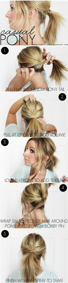Casual and cute ponytail for a everyday, effortless look.