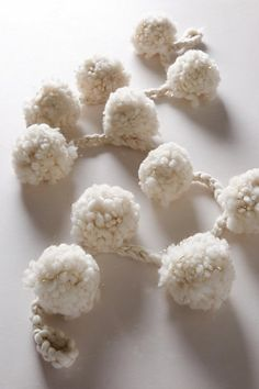 Anthropologie Snowball Garland #anthrofave