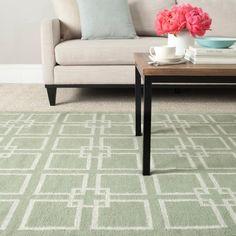 Martha Stewart Square Dance Fennel Seed Green Wool/ Banana Silk Rug - Overstock™ Shopping - Great Deals on Safavieh 7x9 - 10x14 Rugs