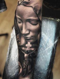 20 Holy Jesus tattoos Art and Design Jesus Tattoo Sleeve, Religious Tattoo Sleeves, Best Sleeve Tattoos, Jesus Tatoo, Tattoo Hand, Jesus Tattoo Design, Angel Tattoo Designs, Tattoo Sleeve Designs, Holy Tattoos