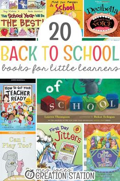 Back to school is an exciting time for little learners. Starting the year out with a back to school theme is fun for the kids. These back to school books are wonderful to read to your preschool, prek, kindergarten and first grade learners at the beginning Kindergarten Books, Preschool Books, Book Activities, Preschool Activities, Stem Preschool, Fall Preschool, Starting School, Beginning Of The School Year, First Day Of School