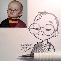 Robert de Jesus faz caricaturas de pessoas pela Internet