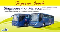 Superior Coach is one of few bus operators that provides direct bus service to Malacca from Singapore. Plan your weekend trip to Malacca today!