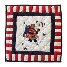 Colonial Santa Cotton Throw Pillow