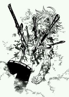 Meliodas - Nanatsu no taizai It won't end here Black Rock Shooter, Seven Deadly Sins Anime, 7 Deadly Sins, Anime Echii, Anime Art, Sword Art Online, Demon King Anime, Meliodas And Elizabeth, Netflix Anime