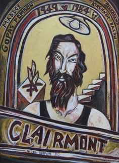 Portrait of artist Philip Clairmont by Nigel Brown.
