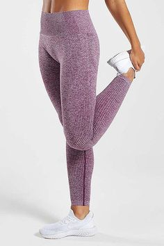 Seamless Long Sleeve T Shirt Leggings Set – myslady Sports Leggings, Women's Leggings, Push Up, Gym Girls, Seamless Leggings, Sport Pants, Sports Women, Neue Trends, Yoga Pants