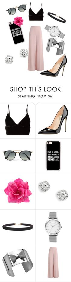 """""""Untitled #190"""" by madisoncute099 ❤ liked on Polyvore featuring T By Alexander Wang, Ray-Ban, Casetify, Humble Chic and Zimmermann"""