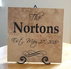 Vinyl ideas | Wedding gift idea--vinyl lettering family tile — Creations by Kara