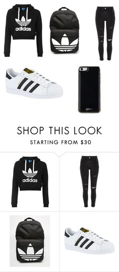 """Untitled #36"" by laihannah on Polyvore featuring Topshop, River Island, adidas and Gooey"