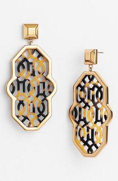 Tory Burch 'Chantal' Perforated Lattice Earrings