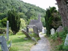 Glendalough, in Ireland.  Had one of the most memorable days here.  Beautiful and historical place.
