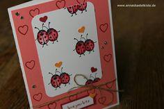 Love you lots Stampin Up Gastgeberinnen Set Bugs Marienkäfer Karte card