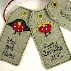 Personalised Christmas Robin Tags - other labels & tags