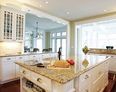 Tropical Brown Granite White Cabinets Design, Pictures, Remodel, Decor and Ideas