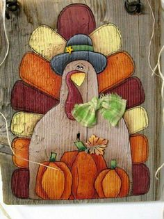 Pumpkins and Turkey, Hand Painted on Reclaimed Barn Wood, Thanksgiving Sign, Turkey Sign, Orange Pum Thanksgiving Wood Crafts, Fall Wood Crafts, Thanksgiving Signs, Holiday Crafts, Fall Projects, Craft Projects, Craft Ideas, Vinyl Projects, Autumn Painting