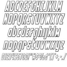 Battleworld Outline Italic Font