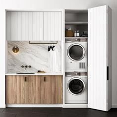 40 Small Laundry Room Ideas and Designs 2018 Laundry room decor Small laundry room organization Laundry closet ideas Laundry room storage Stackable washer dryer laundry room Small laundry room makeover A Budget Sink Load Clothes Laundry Cupboard, Laundry Closet, Laundry Room Storage, Laundry Nook, Bathroom Storage, Garage Storage, Linen Cupboard, Laundry Tips, Bathroom Organization