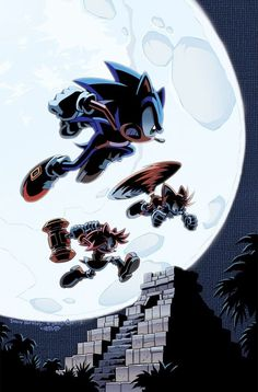 Raw artwork to Archie Comics' Sonic the Hedgehog cover. Pencils Inks: Terry Austin Colors: Sonic the Hedgehog 237 Cover Sonic Mania, Sonic 3, Sonic And Amy, Sonic And Shadow, Sonic Fan Art, Sonic The Hedgehog, Hedgehog Art, Silver The Hedgehog, Shadow The Hedgehog