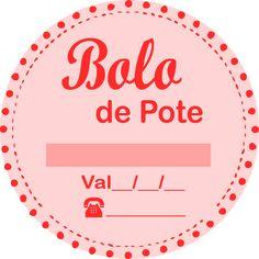 Etiqueta para Bolo de Pote Grátis para Imprimir