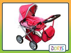 Wózek lalkowy kombinowany – głęboki i sportowy z nosidełkiem, ma regulowane oparcie i podnóżek. Wewnątrz gondola z uszami służąca do przenoszenia lalki, a w niej pościel. W środku umocowano taśmę, która służy do zapięcia lalki w wersji sportowej wózka