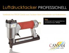 Luftdrucktacker - Professionell Wedges, Canvas Frame, Printing, Tips