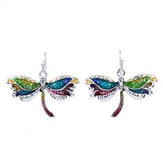 MS1504292Fashion Jewelry Hight Quality Necklace Earring For Women Jewelry Multicolor Alloy Unique Dragonfly Design Party Gift